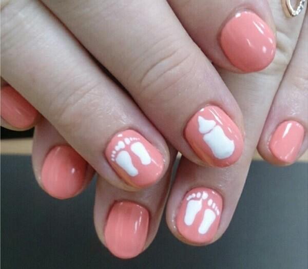 Рисунки на ногтях для беременных фото 67