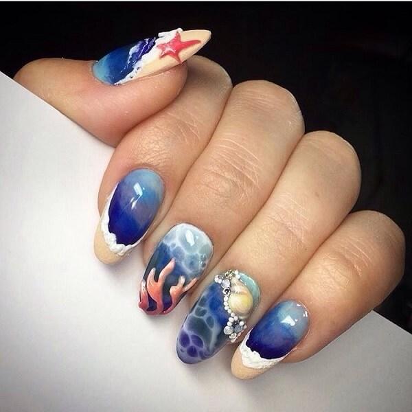 интересные фото новинки летнего дизайна ногтей 2017