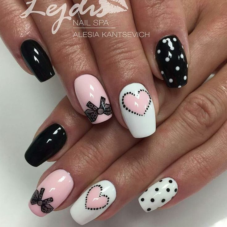 маникюр с бабочками 2017 nails patterned bow