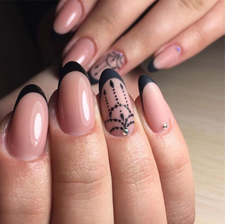 Миндалевидные ногти: актуальный 12
