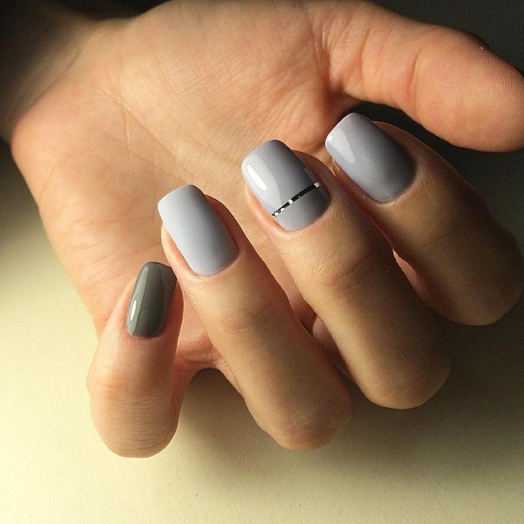 Идеи маникюра на короткие ногти - фото, отзывы, видео Маникюр на короткие ногти с полосками
