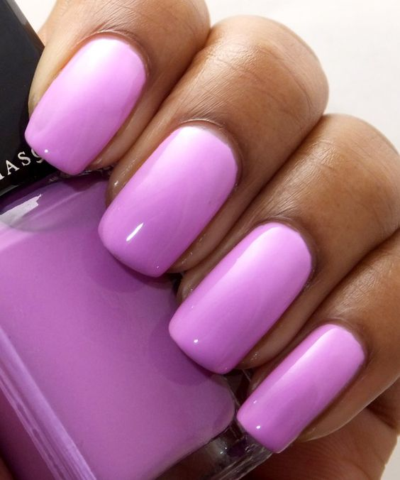 Lilac Radiant Orchid design nails лиловый маникюр