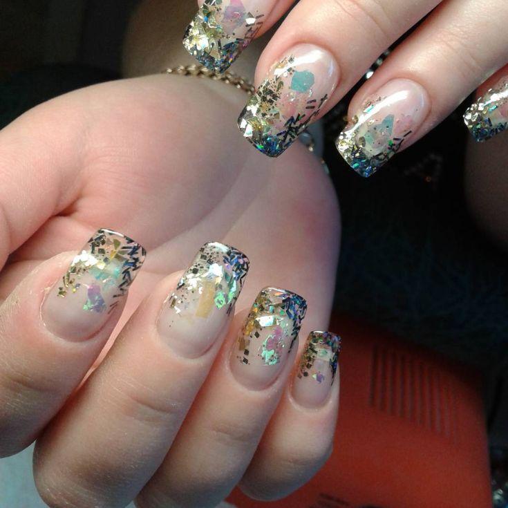 Фото дизайн гелевых ногтей с аква