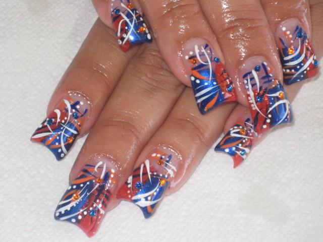 аквариумный дизайн ногтей абстракция aquarium nail design
