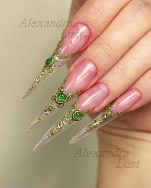 аквариумный дизайн ногтей супердлиные aquarium nail design