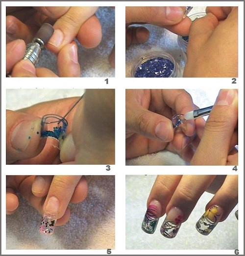 аквариумный дизайн ногтей пошаговая инструкция проведения аквариумного дизайна aquarium nail design