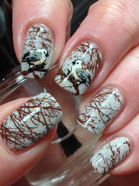 дизайн ногтей тема осень фото
