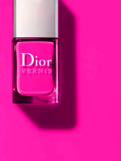 beautiful nail design fuchsia Dior gel polish standard