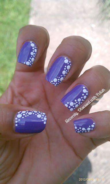 Дизайн ногтей синие