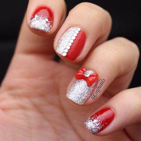 дизайн ногтей бантики объёмный бантик nails patterned bow