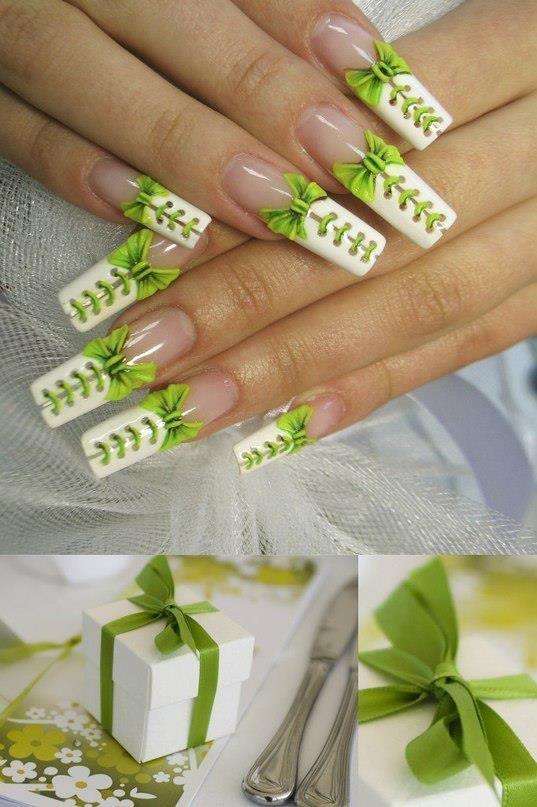 Дизайн ногтей корсет