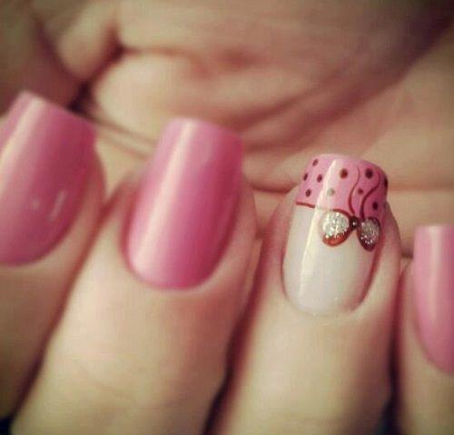 дизайн ногтей бантики маленький nails patterned bow