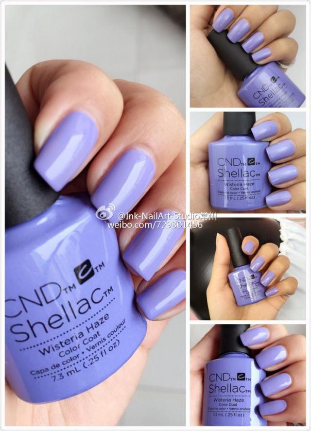 Палитра cnd shellac на ногтях