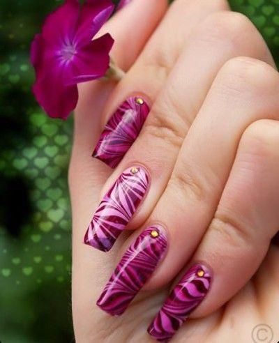 дизайн акриловых ногтей 2015 бордовый