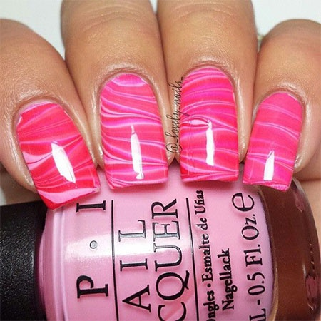 дизайн акриловых ногтей 2015 розовый микс