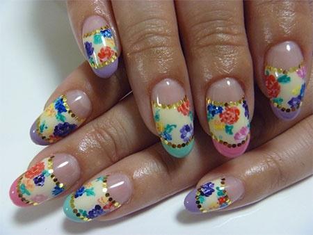 дизайн акриловых ногтей 2015 полукруглый