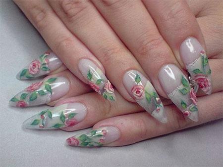 дизайн акриловых ногтей 2015 миндальные