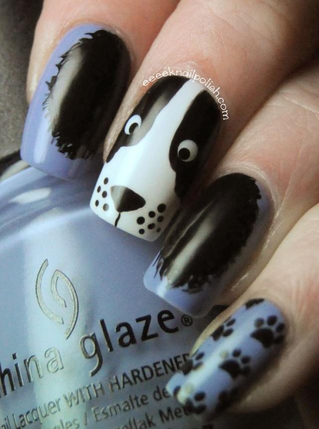 дизайн ногтей животные собака