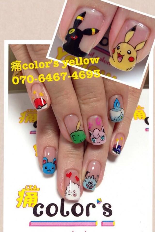 design nail anime анимешный дизайн ногтей  зверушки