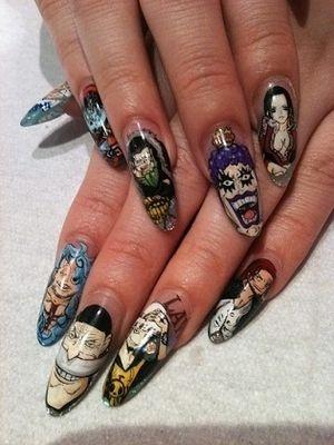 design nail anime анимешный дизайн ногтей
