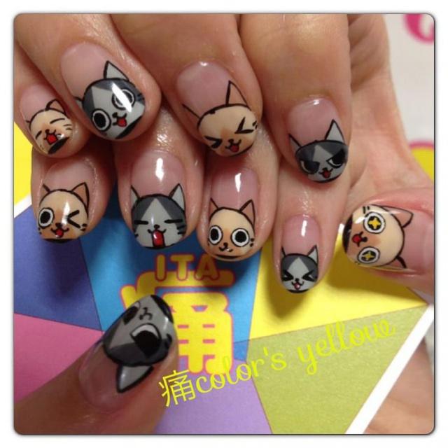 Дизайн ногтей аниме
