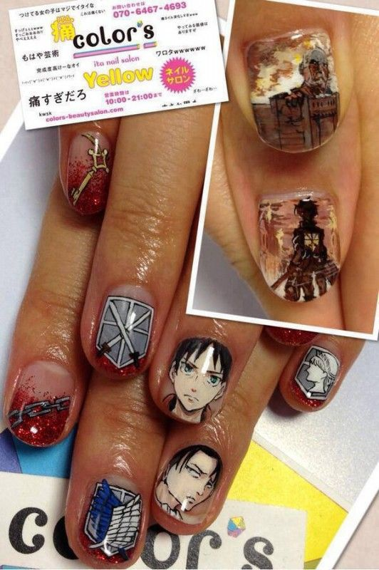 Аниме дизайн ногтей