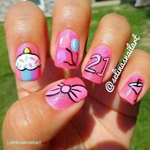 Ногти фото на день рождения
