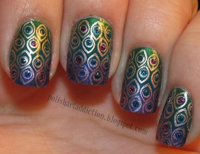 дизайн ногтей бульонки шарики восточный рисунок Nail Design bulbs