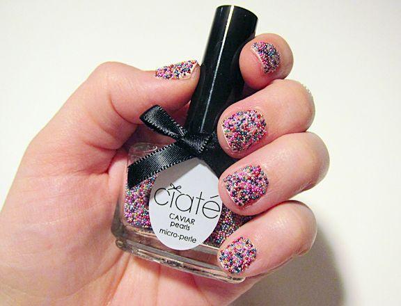дизайн ногтей бульонки шарики Разноцветные Nail Design bulbs
