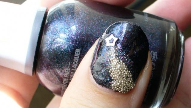 дизайн ногтей бульонки шарики шиммер Nail Design bulbs