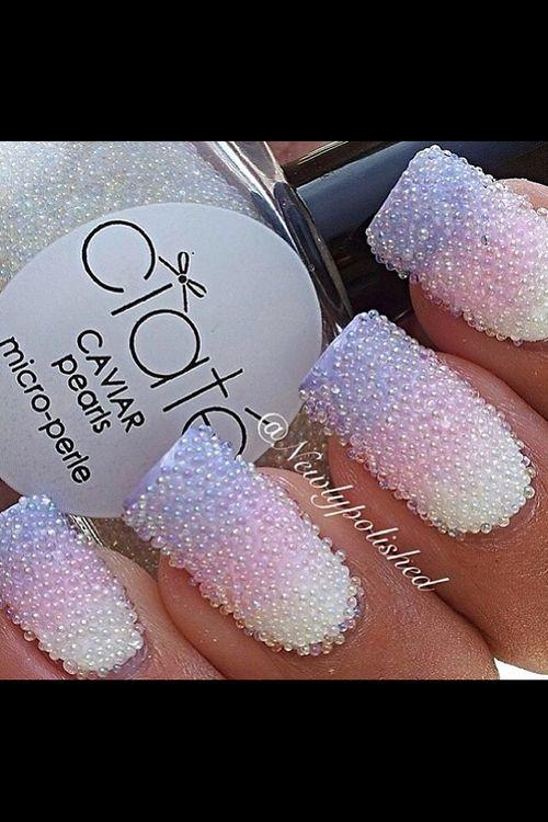 дизайн ногтей бульонки шарики жемчужный Nail Design bulbs