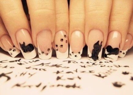 фото дизайн ногтей с кошками слайдер игра