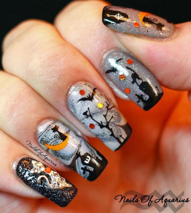 Дизайн ногтей кошки