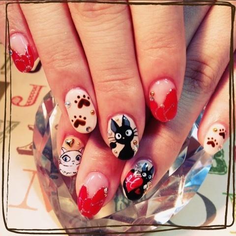 фото дизайн ногтей с кошками красивый