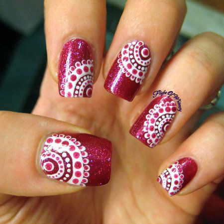 Дизайн ногтей с помощью