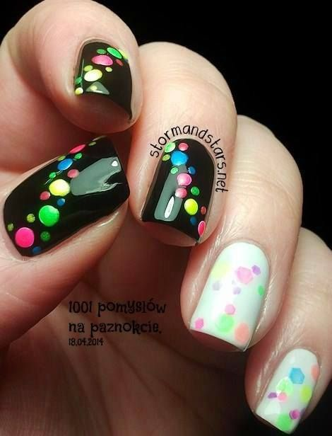 Дизайн на ногтях точками фото