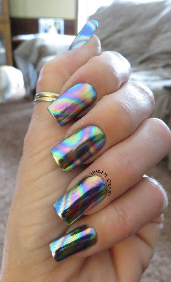 Голография дизайн ногтей