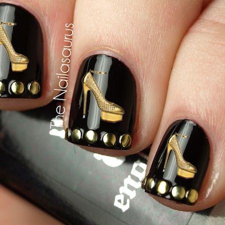 Туфелька дизайн ногтей