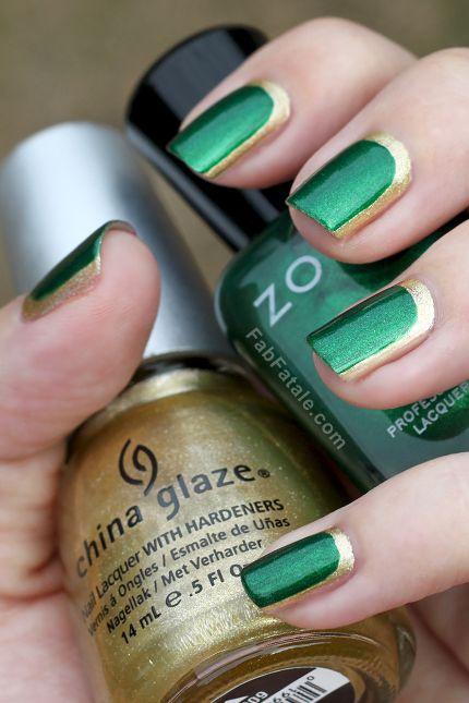 Дизайн ногтей в зеленых тонах