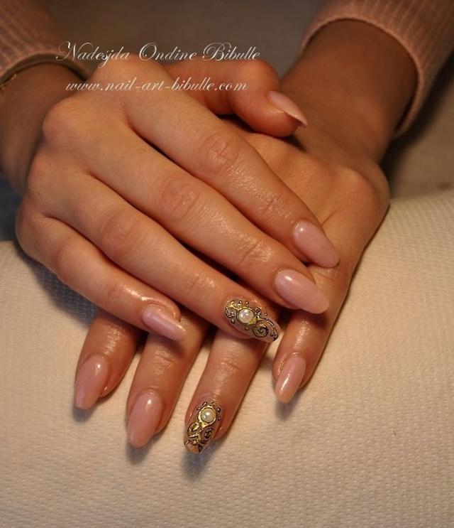 дизайн ногтей жидкий камень жемчуг
