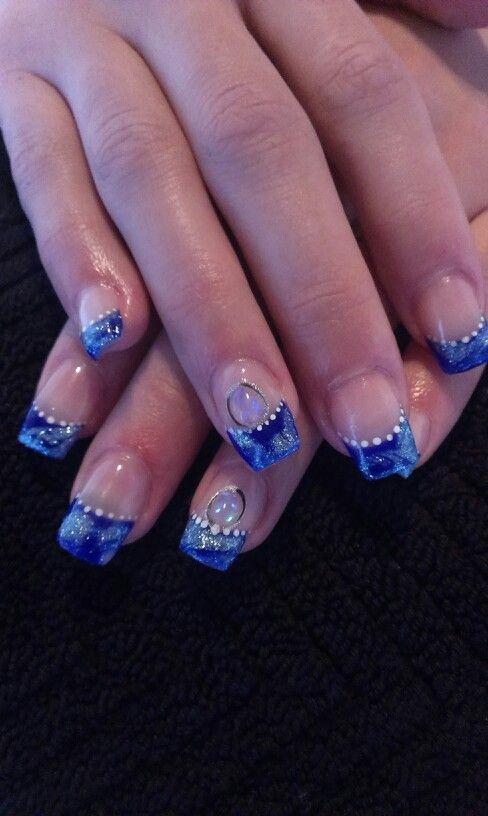 дизайн ногтей жидкий камень манка