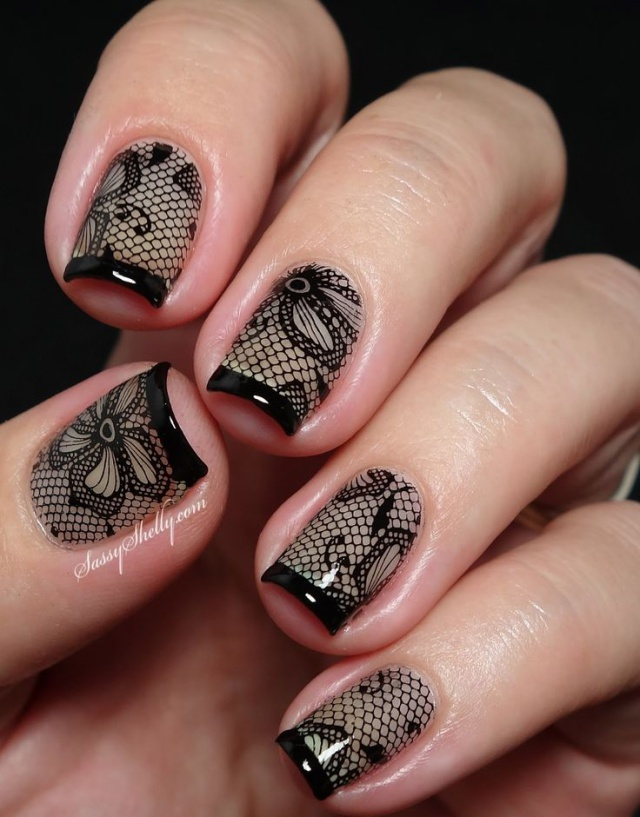 Дизайн ногтей вуаль фото
