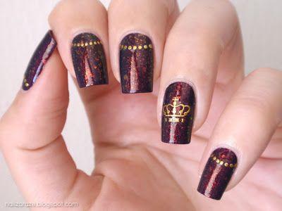 фото ногти корона