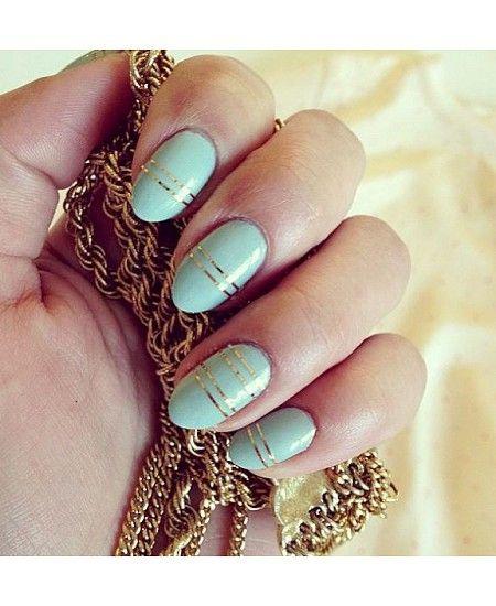 дизайн ногтей скотч лента золотистые Nail Design Scotch tape