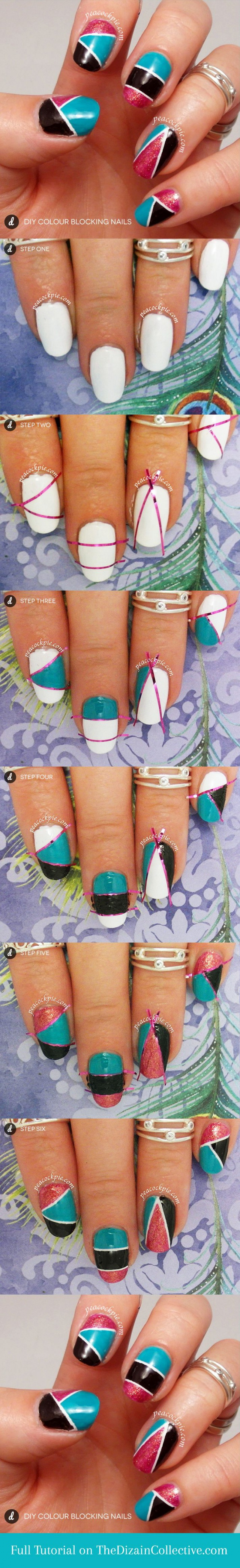 дизайн ногтей скотч лента пошаговое Nail Design Scotch tape