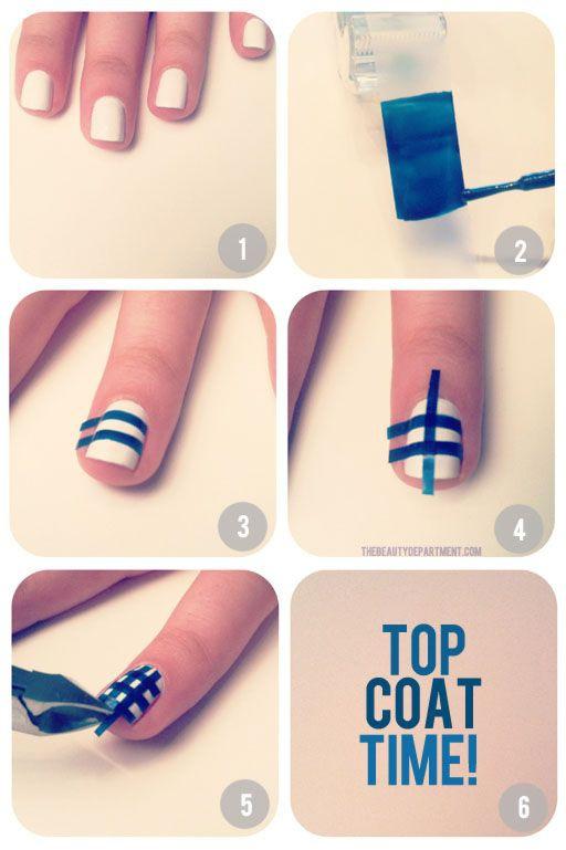 дизайн ногтей скотч лента фото инструкция Nail Design Scotch tape