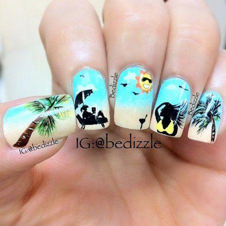 Пляжные ногти