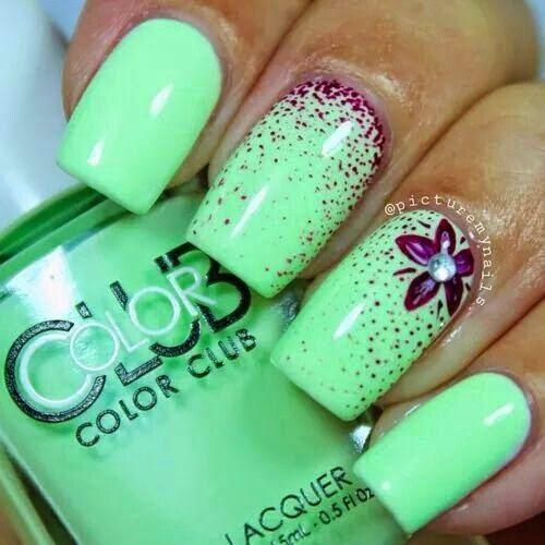 Дизайн ногтей фото мятный цвет