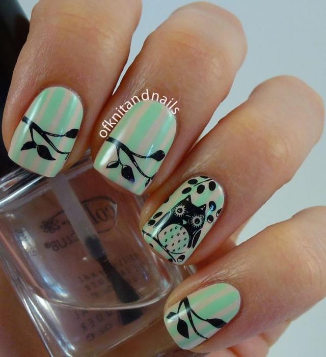 Дизайн ногтей с совами