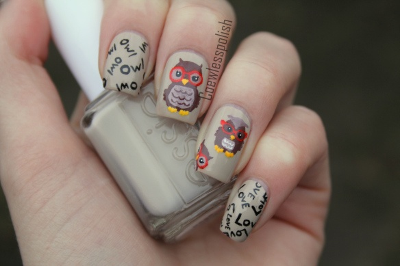 Ногти с совой фото